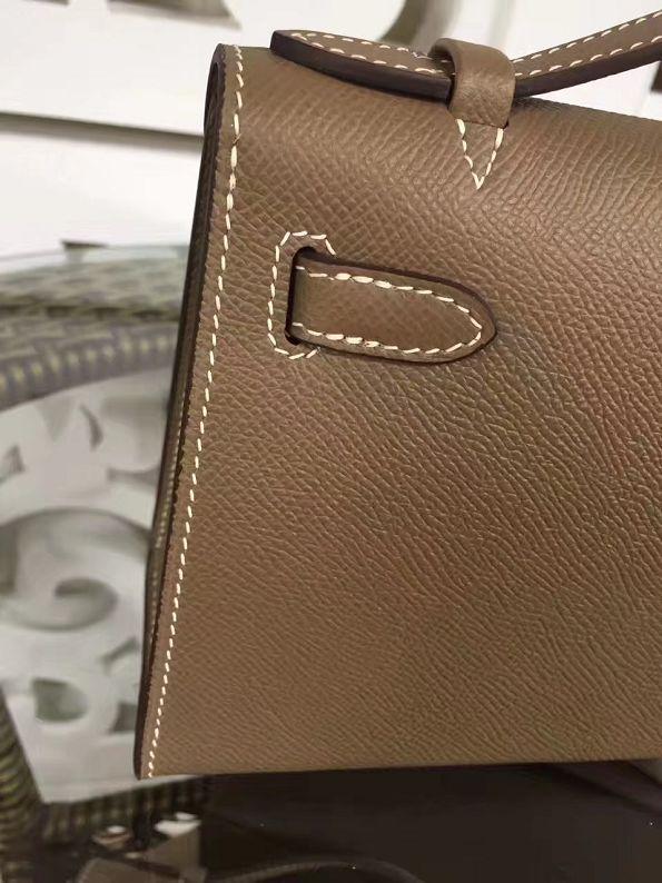 2017 hermes original epsom leather mini kelly 22 clutch K012 grey 6e1608f207