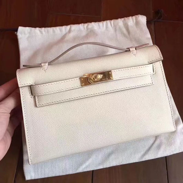 2017 hermes original epsom leather mini kelly 22 clutch K012 white 36063a11df