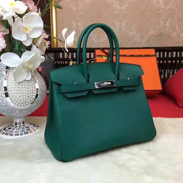 Hermes original epsom leather birkin 35 bag H35 green 2f0faba573d6a