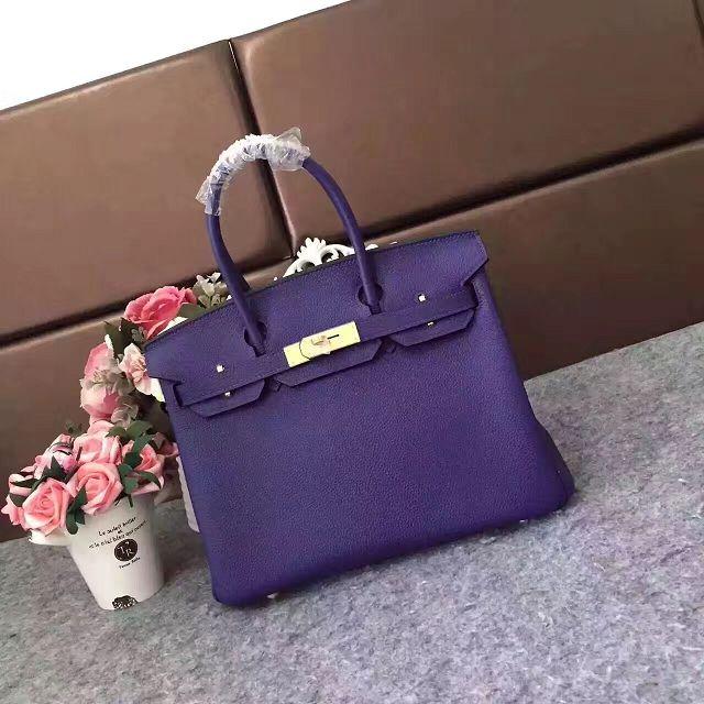 26634da277c Hermes original togo leather birkin 25 bag H25-1 purple