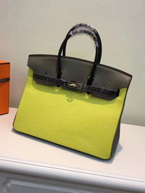 Hermes top togo leather birkin 35 bag H35-2 yellow&black