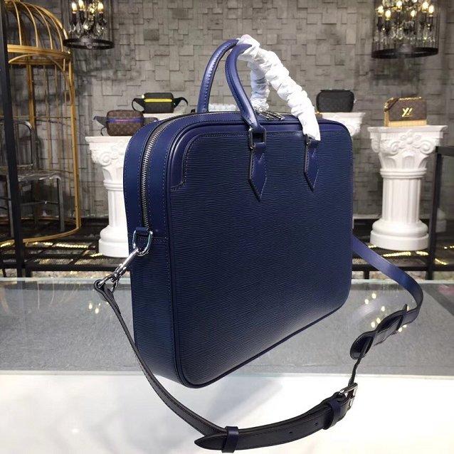 8d682136b7d4 Louis vuitton original epi leather dandy briefcase M54405 navy blue