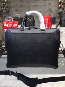 904ae812168 Louis vuitton original epi leather oliver briefcase bag M51689 black