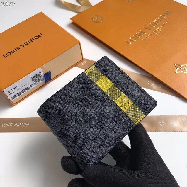 e6bab5e509f67 Louis vuitton damier graphite slender wallet N60087 yellow