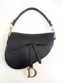 Dior original calfskin saddle bag M0446 black