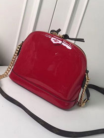 Louis vuitton original patent leather mini alma M52751 red