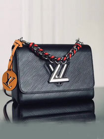 2019 louis vuitton original epi leather twist mm M52503 black