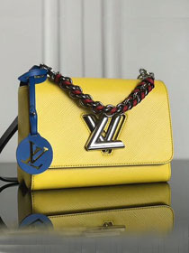 2019 louis vuitton original epi leather twist mm M52503 yellow