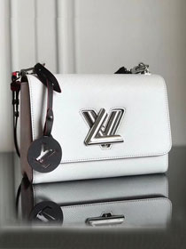 2019 louis vuitton original epi leather twist mm M52504 white