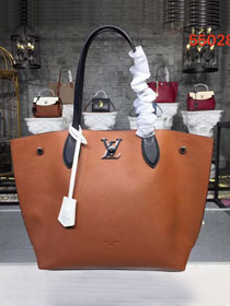Louis vuitton original calfskin lockme cabas tote m55028 brown
