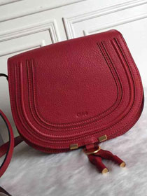Chloe original calfskin large marcie crossbody saddle bag 2019 red