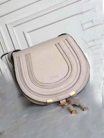 Chloe original calfskin marcie crossbody saddle bag 2000 beige