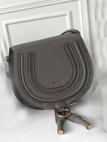 Chloe original calfskin marcie crossbody saddle bag 2000 grey