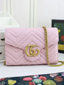 GG margaret original calfskin mini chain bag 474575 pink
