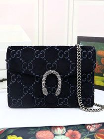 GG original velvet dionysus mini chain bag 401231 black