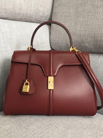 2019 celine original smooth calfskin medium 16 bag 187373 bordeaux
