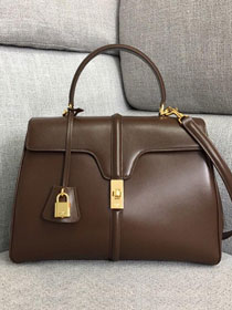 2019 celine original smooth calfskin medium 16 bag 187373 brown