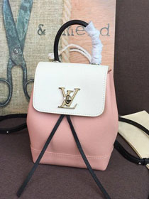 2020 louis vuitton original calfskin lockme mini backpack M53195 pink