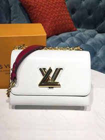 2019 louis vuitton original epi leather twist mm M53596 white