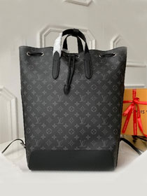 Louis vuitton original monogram eclipse explore backpack m40527 black