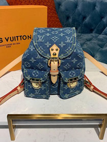 2020  Louis vuitton original denim mini backpack M44461 blue