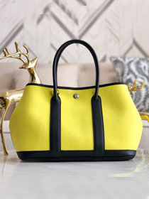 Hermes original canvas large garden party 36 bag G36 yellow