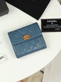 CC grained calfskin boy small flap wallet A81996 blue