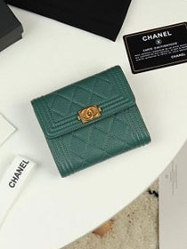 CC grained calfskin boy small flap wallet A81996 green
