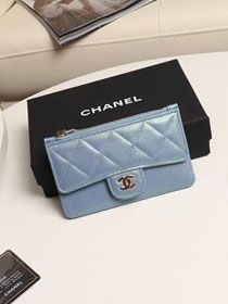CC grained calfskin classic card holder AP0767 light blue
