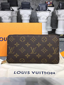 Louis vuitton monogram canvas double zippy M62732
