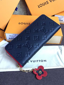 Louis vuitton monogram empreinte clemence wallet M63920 navy blue