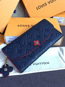 Louis vuitton monogram empreinte wallet M64162 navy blue