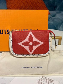 Louis vuitton monogram micro pochette accessories M67579 red