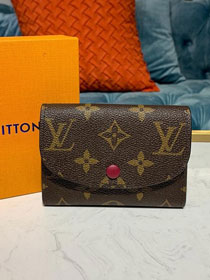Louis vuitton monogram rosalie coin purse M62361 bordeaux