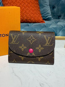 Louis vuitton monogram rosalie coin purse M62361 rose red