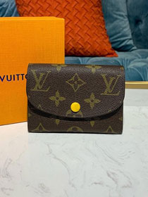 Louis vuitton monogram rosalie coin purse M62361 yellow