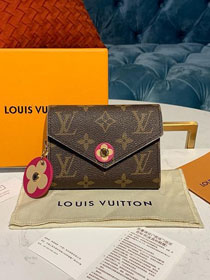 Louis vuitton monogram victorine wallet M41938 rose red