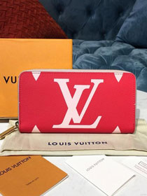 Louis vuitton monogram zippy wallet M67550 red