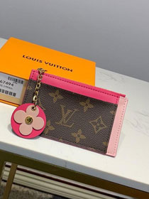 Louis vuitton monogram card holder M67494 pink