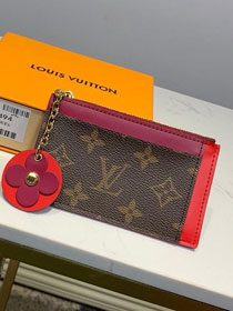 Louis vuitton monogram card holder M67494 red