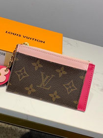 Louis vuitton monogram card holder M67494 rose red