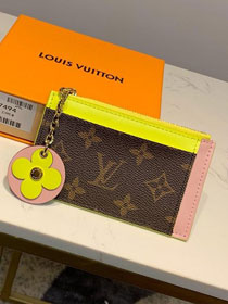 Louis vuitton monogram card holder M67494 yellow