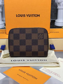 Louis vuitton monogram ebene double zippy wallet N58104