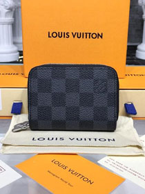 Louis vuitton monogram graphite double zippy wallet N58103