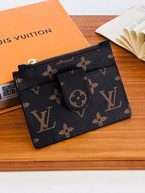Louis vuitton monogram porte carter zippe M66531 black