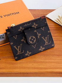 Louis vuitton monogram porte carter zippe M66531 coffee