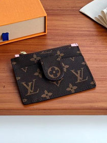 Louis vuitton monogram porte carter zippe M66531 pink
