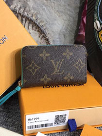 Louis vuitton monogram zippy multicartes M61299 blue