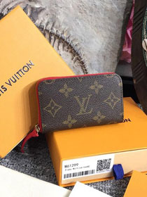 Louis vuitton monogram zippy multicartes M61299 red