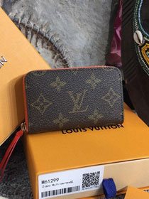 Louis vuitton monogram zippy multicartes M61299 watermelon red